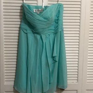 Bridesmaid dress- seafoam-strapless